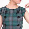 Vestido cuadros mod de Modet detalle