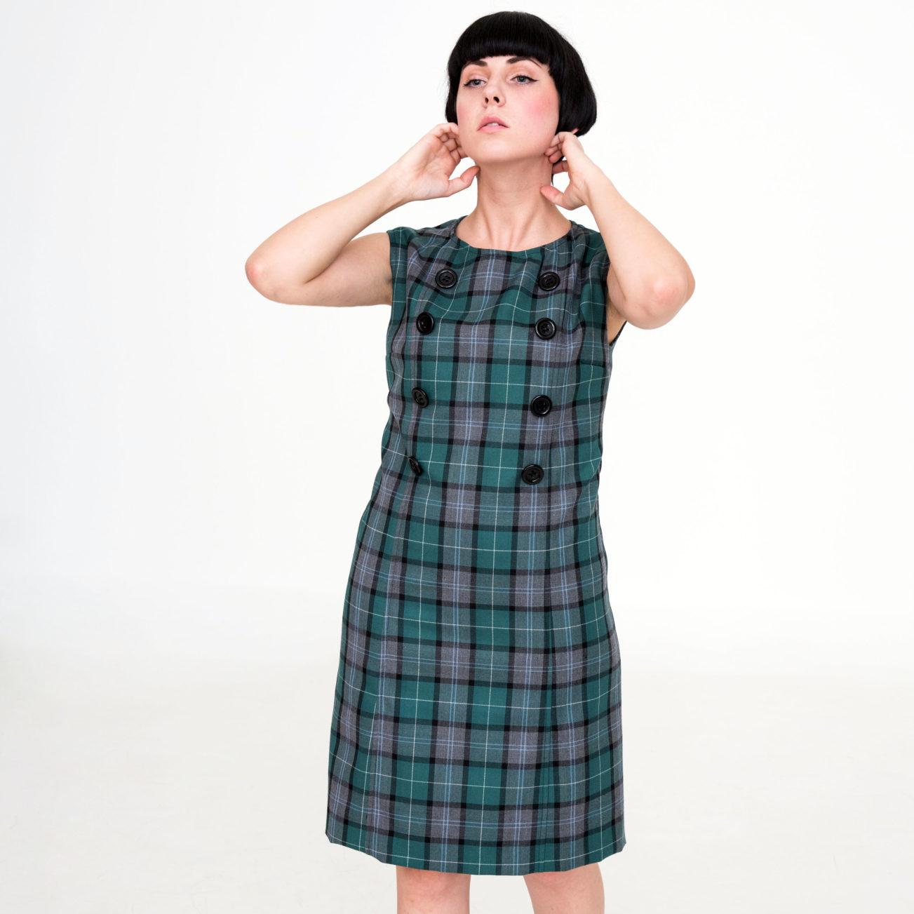 Vestido cuadros mod de Modet frontal