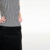 Vestido rayas mod de Modet detalle